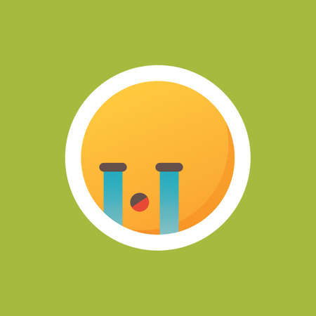 Emoticon crying Illustration