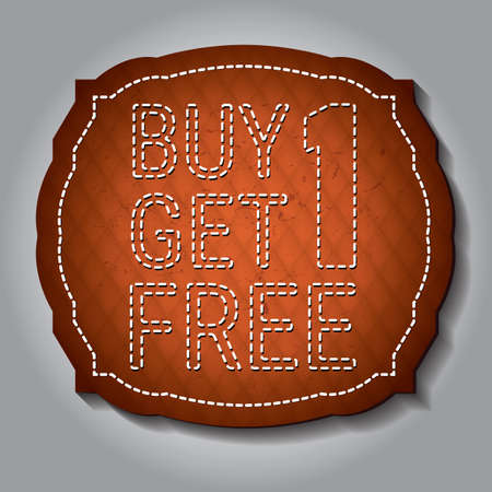 buy one get one free label Ilustrace