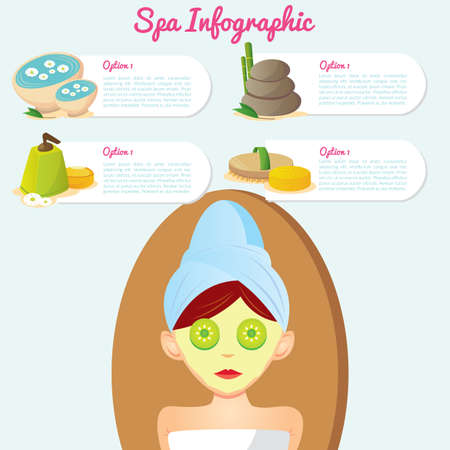 spa infographic Ilustrace