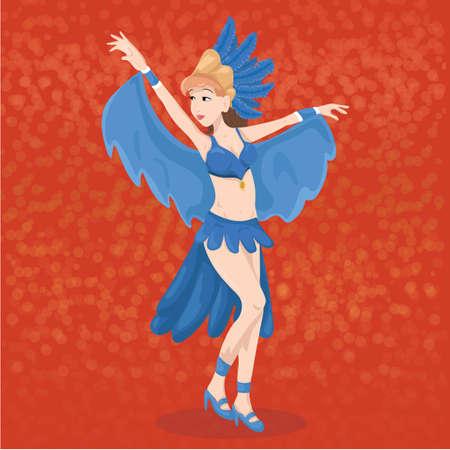 carnival dancer 版權商用圖片 - 81469571