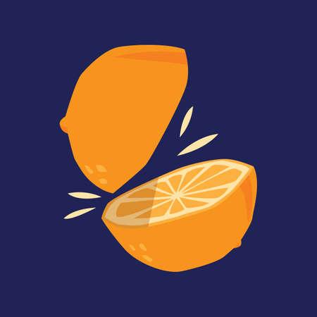 gesneden sinaasappel Vector Illustratie