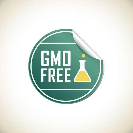 gmo free label Illustration