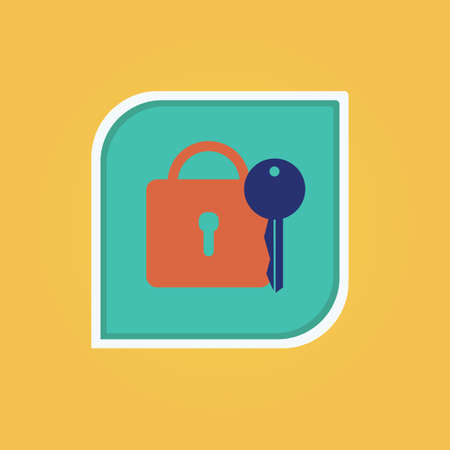 lock and key Ilustrace