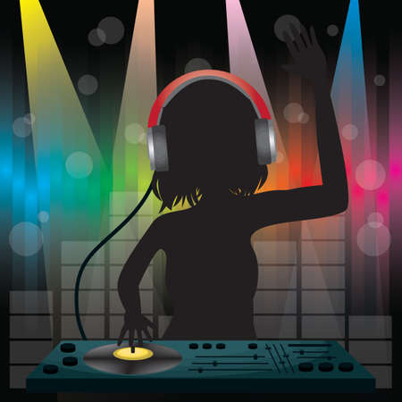DJ playing mixer