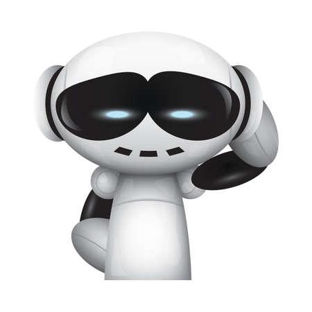 robot with smiling expression Ilustração