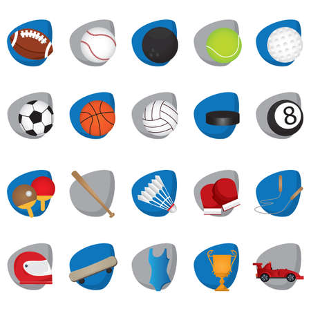 A set of sports icons illustration. Illustration