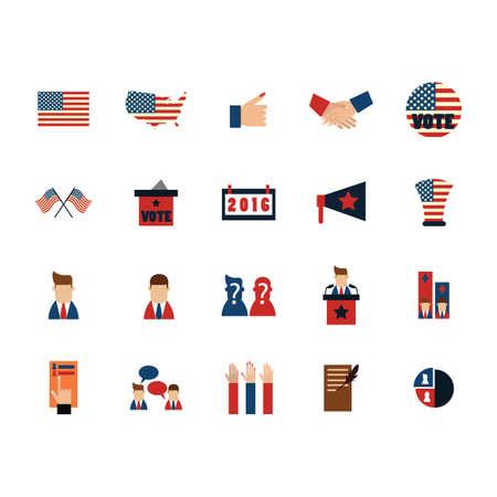 set of election icons Ilustração
