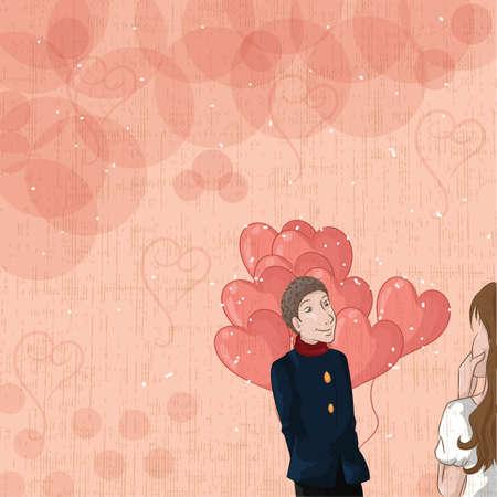 love concept Illusztráció
