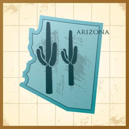 map of arizona state Illustration