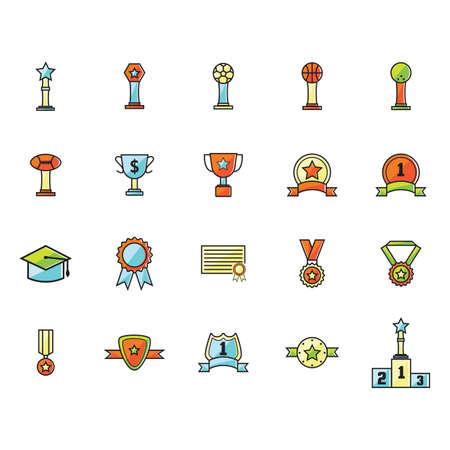 Set of various awards