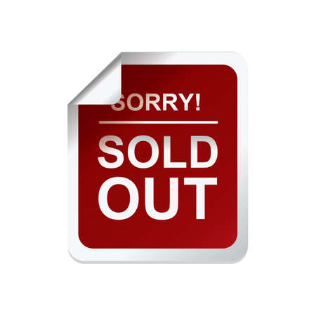 Sorry uitverkocht label Stockfoto - 81418959