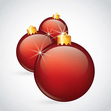 Christmas baubles illustration.