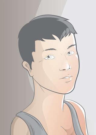 vrouwelijk kapsel Stock Illustratie