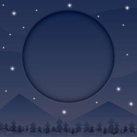 A night sky illustration.