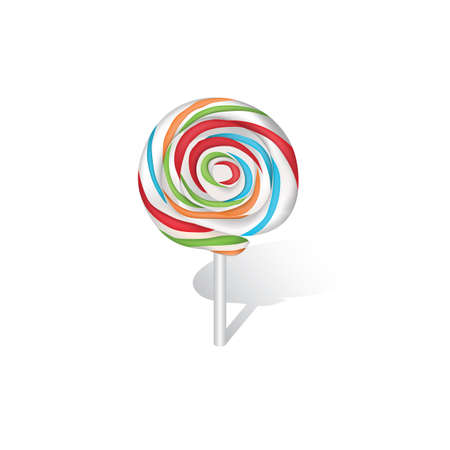 confection: colorful lollipop