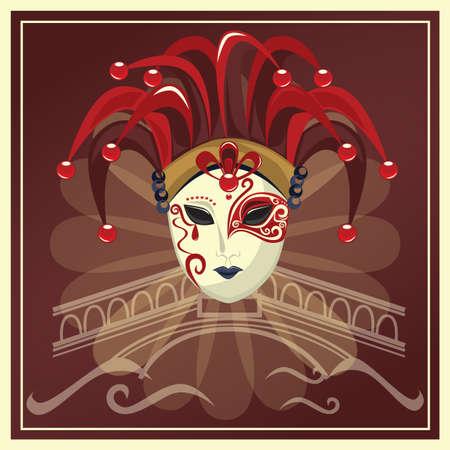 venetian joker mask