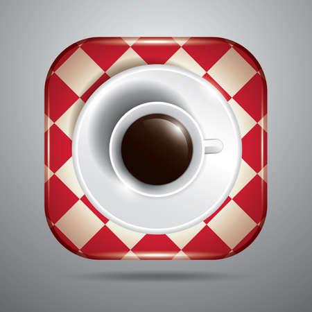접시와 커피 컵