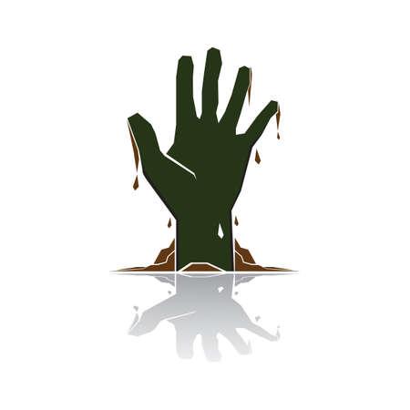 zombie hand Ilustração