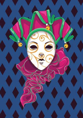 máscara de bufón veneciano