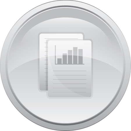 bar graph on paper Illustration
