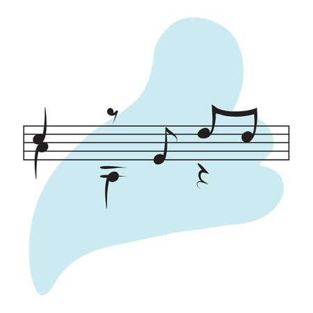 musical notes 일러스트
