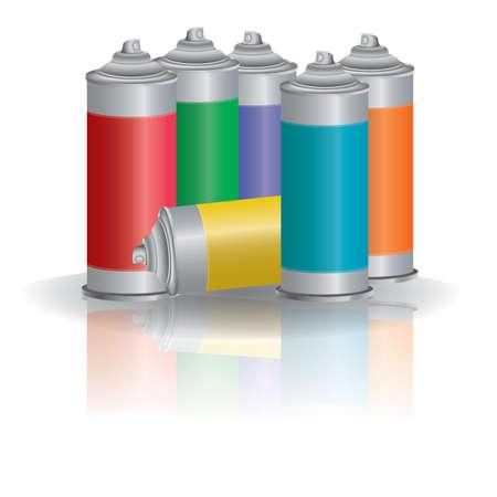 spray cans Vectores