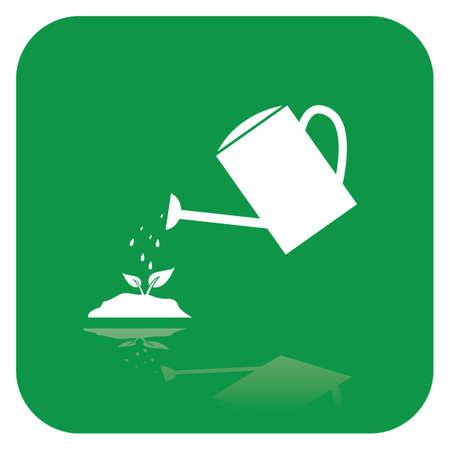 Water kan water op de plant douchen Stock Illustratie