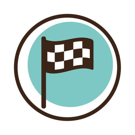 A checkered flag illustration. Illusztráció