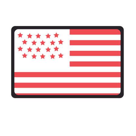 united states of america flag Foto de archivo - 106670710