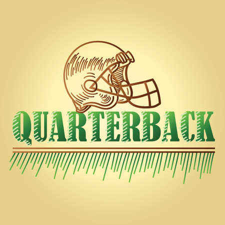 football quarterback position text Banco de Imagens - 106670714