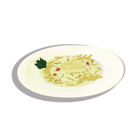 carbonara spaghetti on a plate