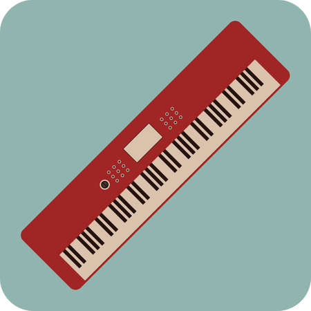 musical keyboard 向量圖像