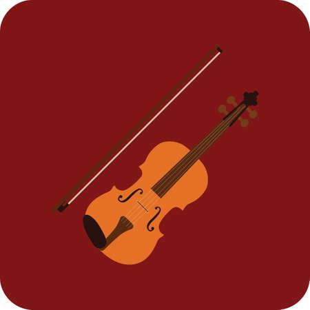 viool Vector Illustratie