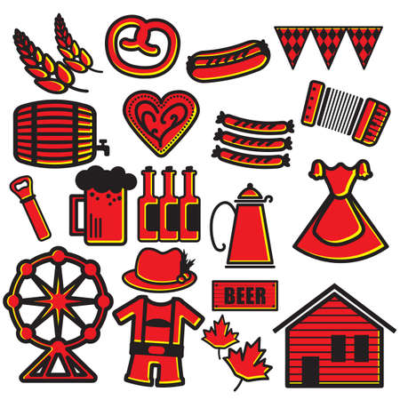 Oktoberfest-Symbole Standard-Bild - 81418973