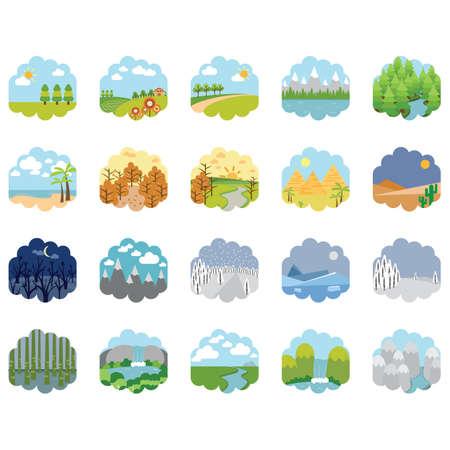 Verzameling van verschillende landschappen