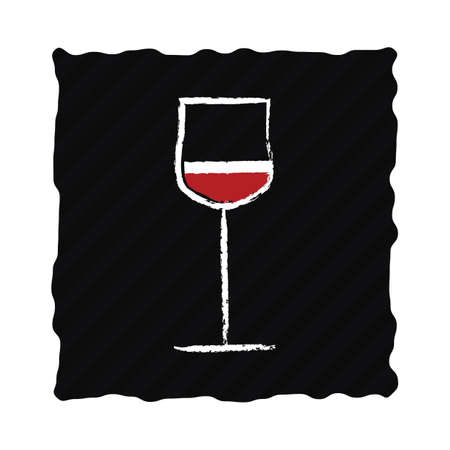 glass of red wine Stock Vector - 81537654
