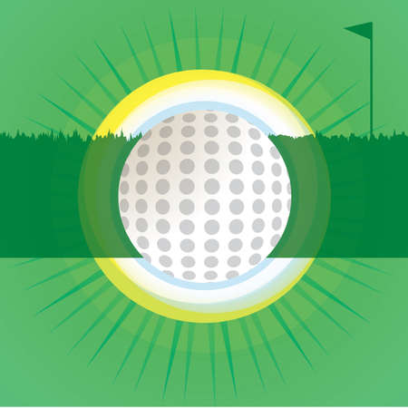 golf ball on abstract background