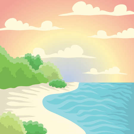 island background Ilustrace
