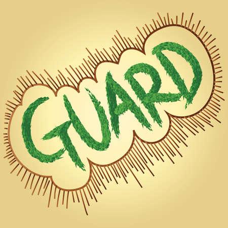 guard text