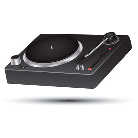 DJ turntable Illustration