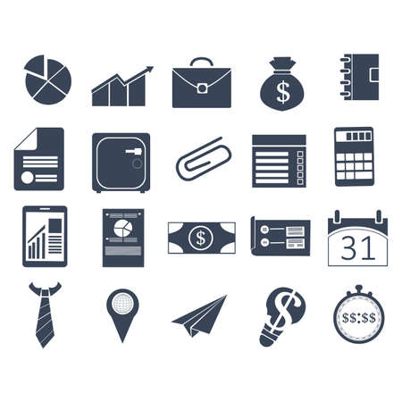 business icons Ilustrace