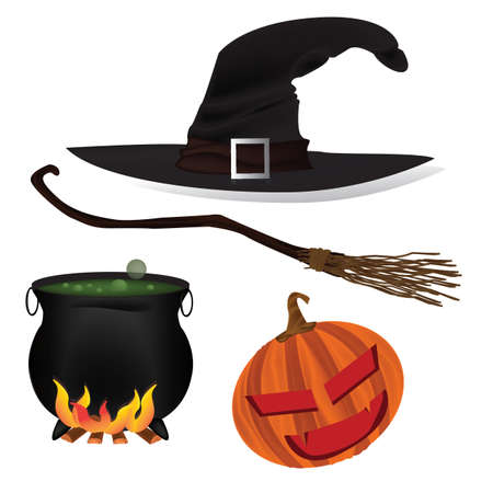 halloween icons Stock Illustratie