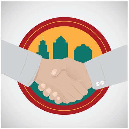 Men shaking hands Ilustração
