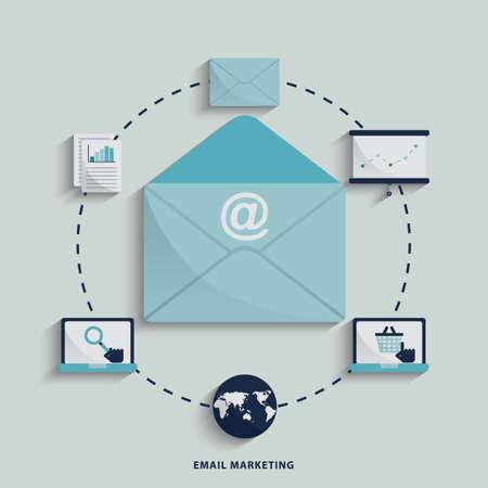 Concept de marketing internet Banque d'images - 81537697