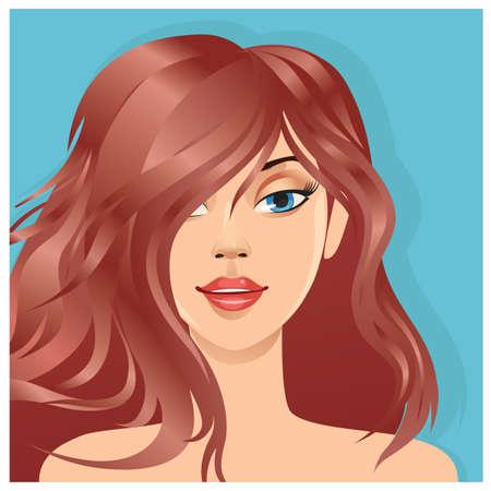 moderne vrouw kapsel
