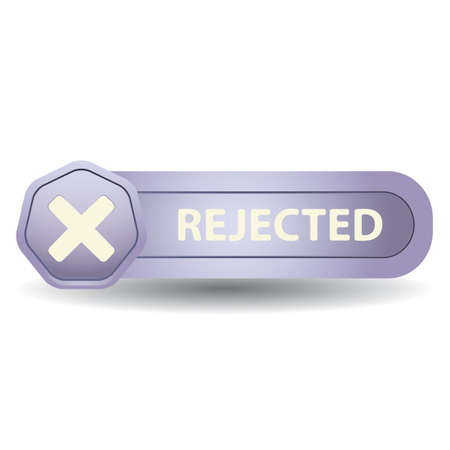 A rejected button illustration. Stok Fotoğraf - 81470529