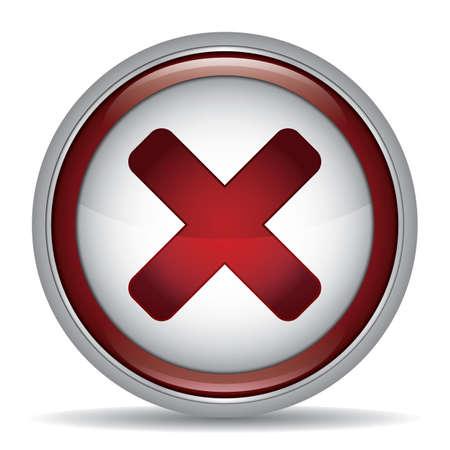 Una ilustración de botón de cancelar. Foto de archivo - 81470530