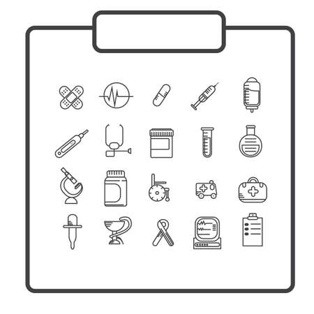 doctor icons Stock Vector - 81486537