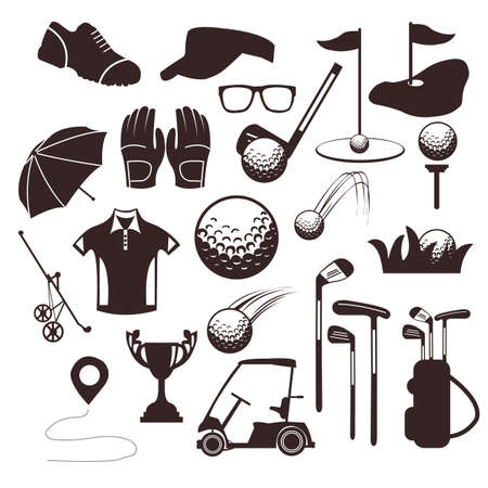 collection of golf equipment