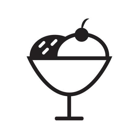 ice cream scoops Illustration